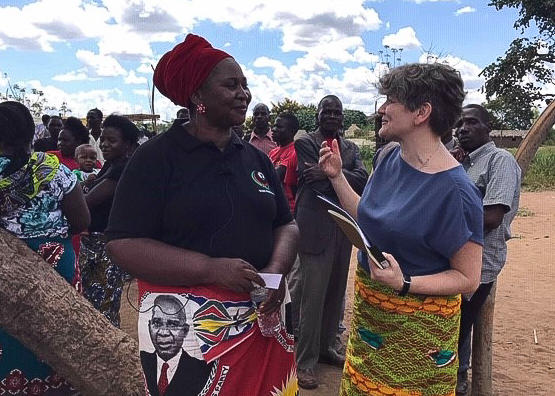 Money Talks Professor Ragnhild Muriaas in Malawi during political campaign