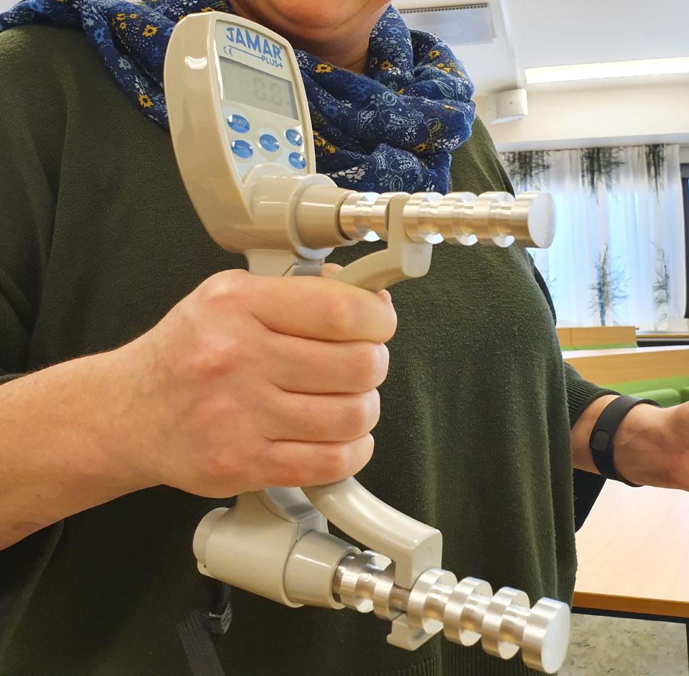 Apparat som brukes til å måle gripestyrke