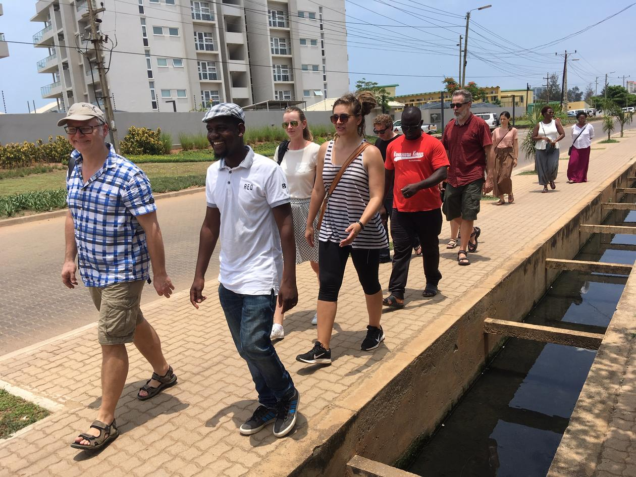 Field work in Maputo at the opening of Urban Enclaving Futures Project, lead by Professor Bjørn Enge Bertelsen from University of Bergen (left in photo).