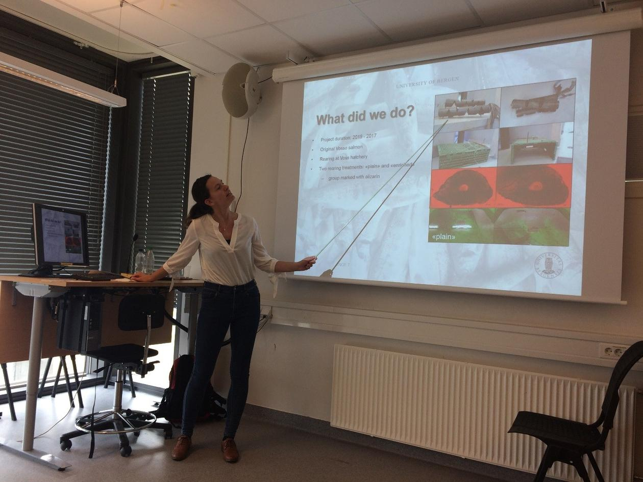 Martine presenting her Master thesis