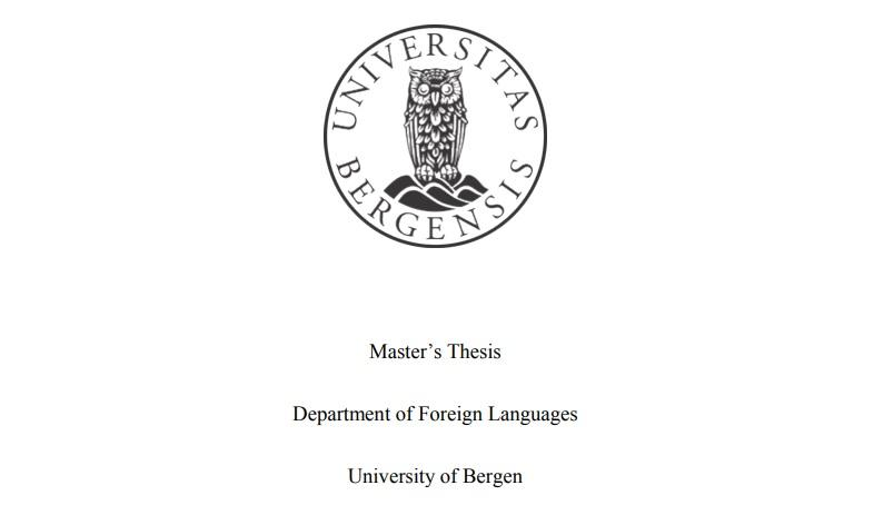 Master's Thesis