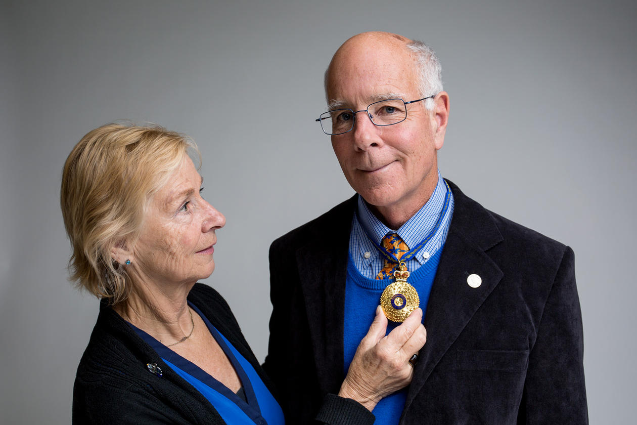 EMINENT SERVICE: Professor Michael Fellows and his wife Frances Rosamond, who is a researcher at UiB.