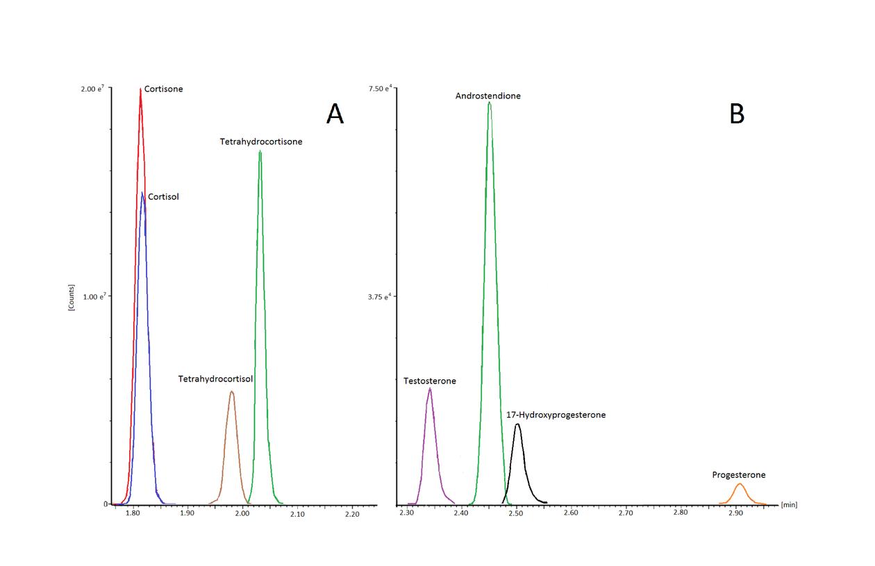 Figur 2. Glukokortikoider, glukokortikoid-metabolitter og androgener.