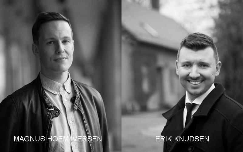 Magnus Hoem Iversen og Erik Knudsen