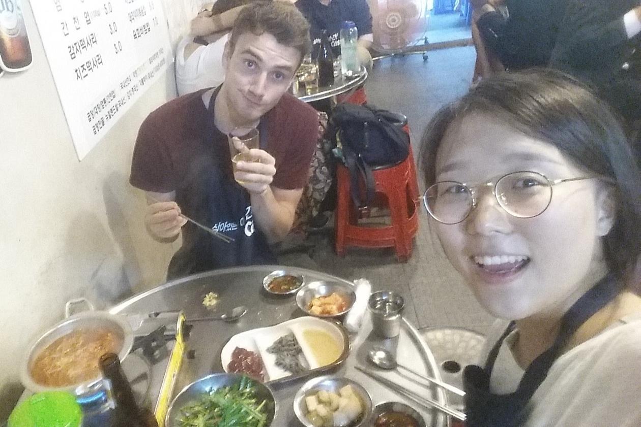 Middag med min gode venn og tolk.