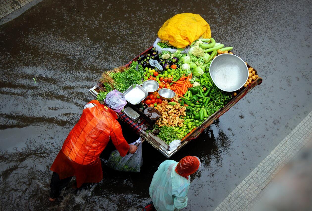 Vegetable cart - Unsplash