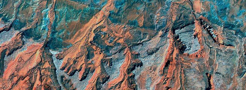 Moab Bartlet fault satelite image