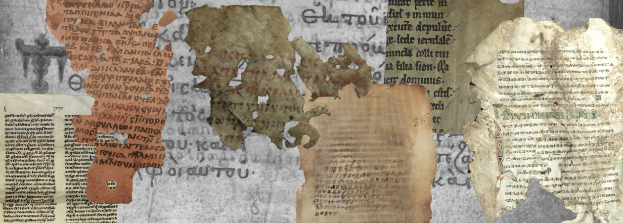 Collage of two medieval books containing the same homily.