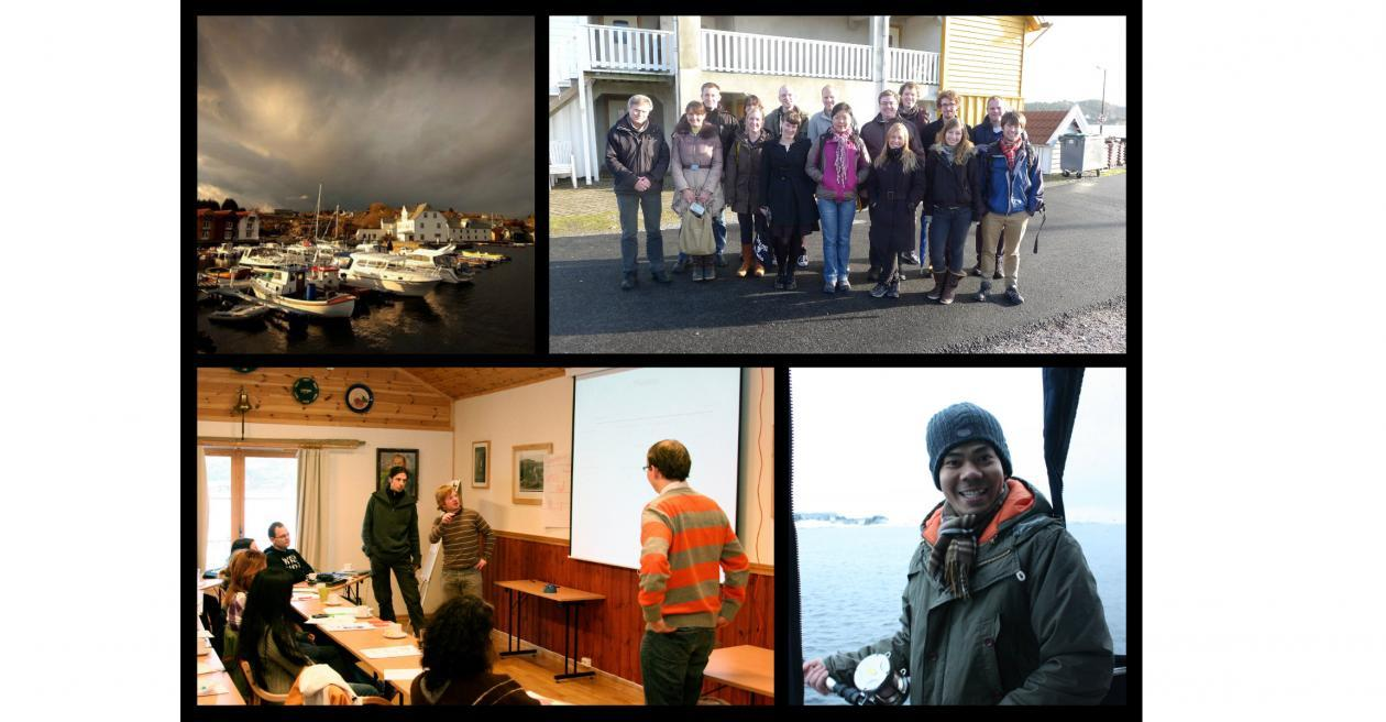 A collage of images from Glesvær and previous intro MCB intro courses