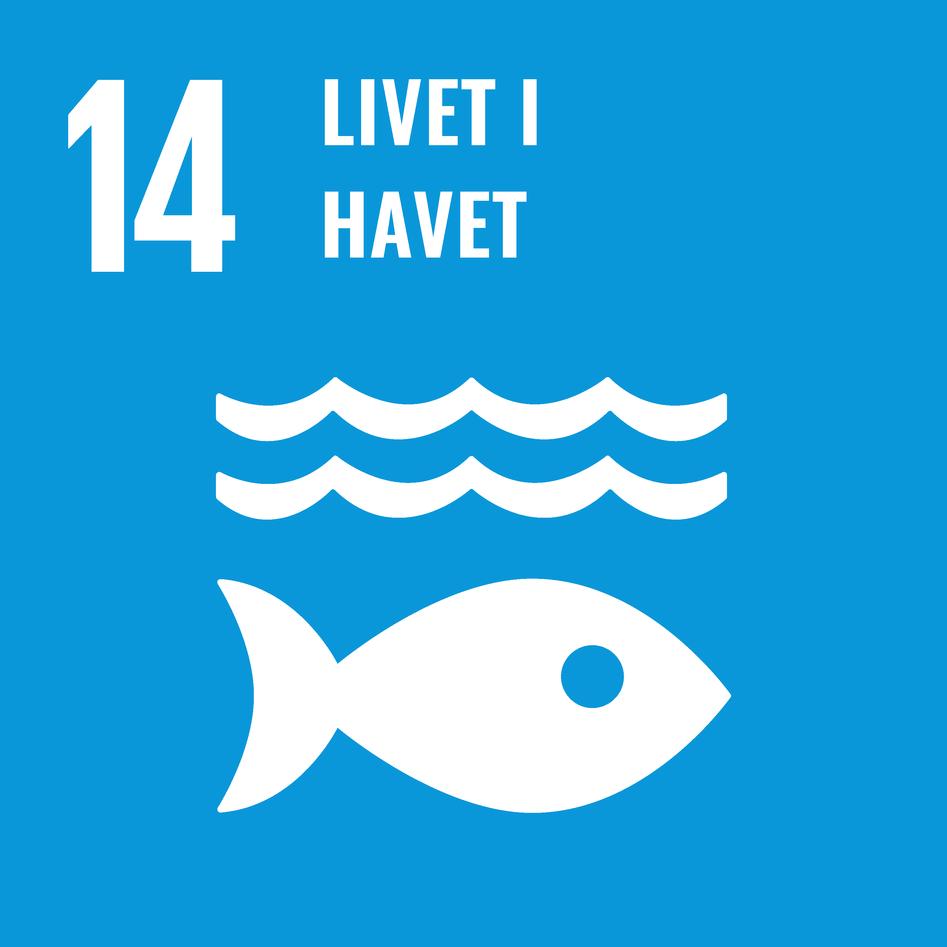 Logoen til bærekraftsmål 14 – livet i havet