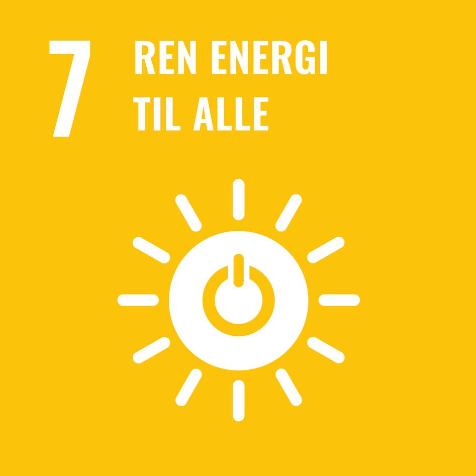 Logoen til bærekraftsmål 7 – ren energi til alle.