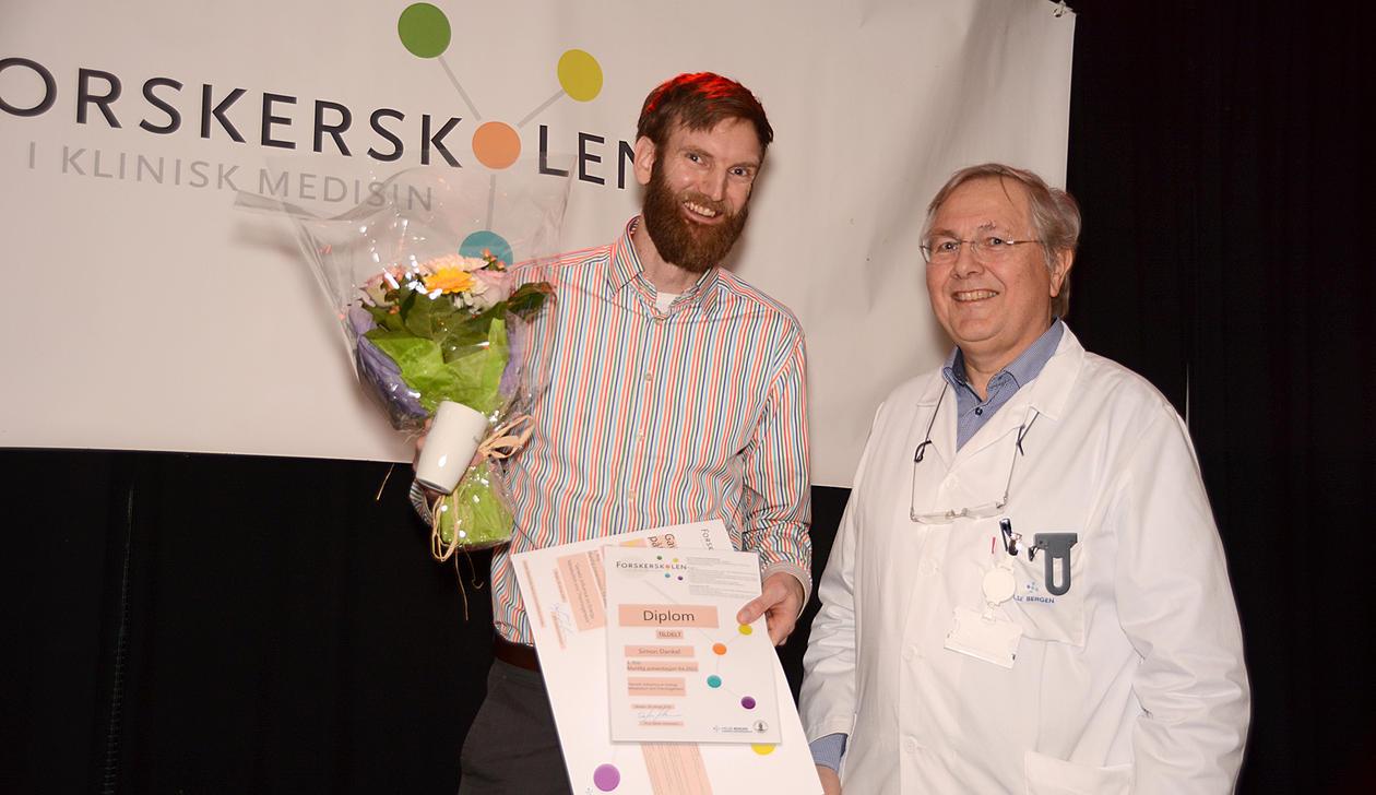 Simon Dankel vinner av muntlig presentasjon