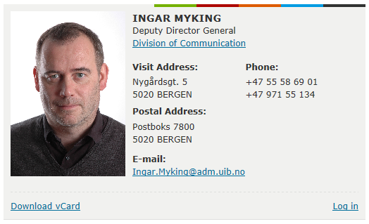 Director of Communications Ingar Myking encourage everyone to make use of the new functionalities and possibilities that have been developed,