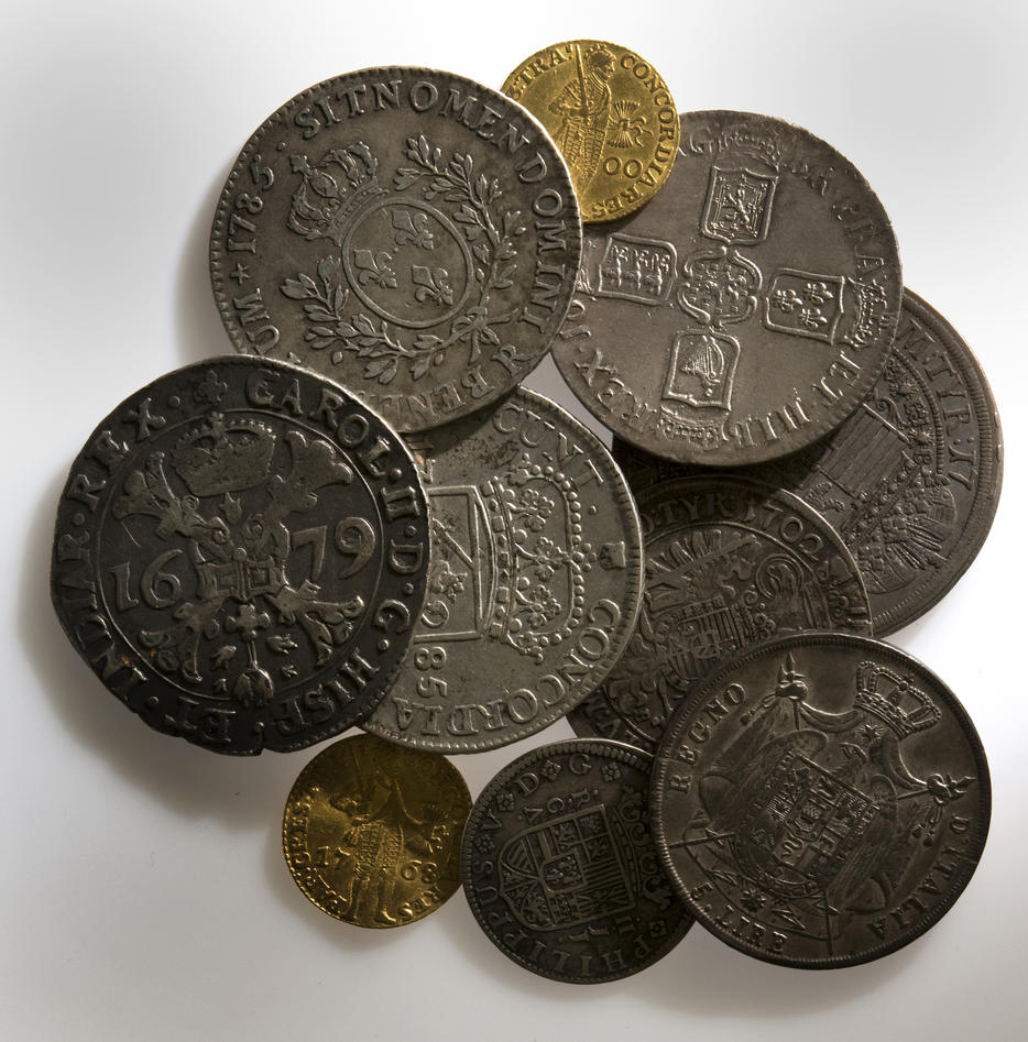Sølvskatten mynter