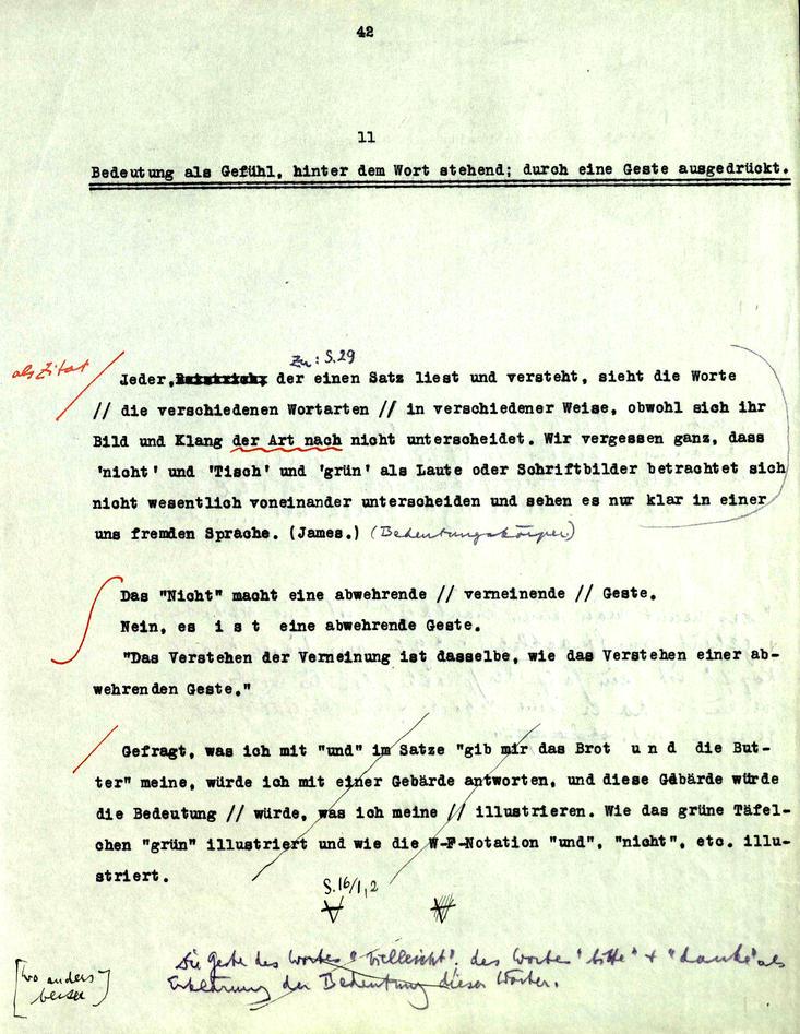 Faksimile fra Wittgensteins Nachlass