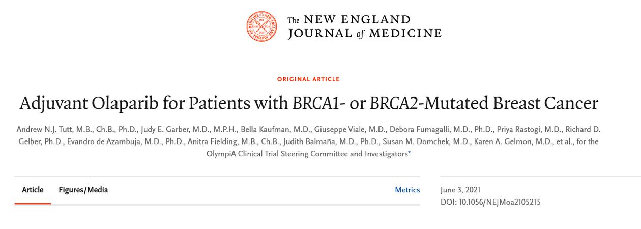 Skjermdump fra New England Journal of Medicine