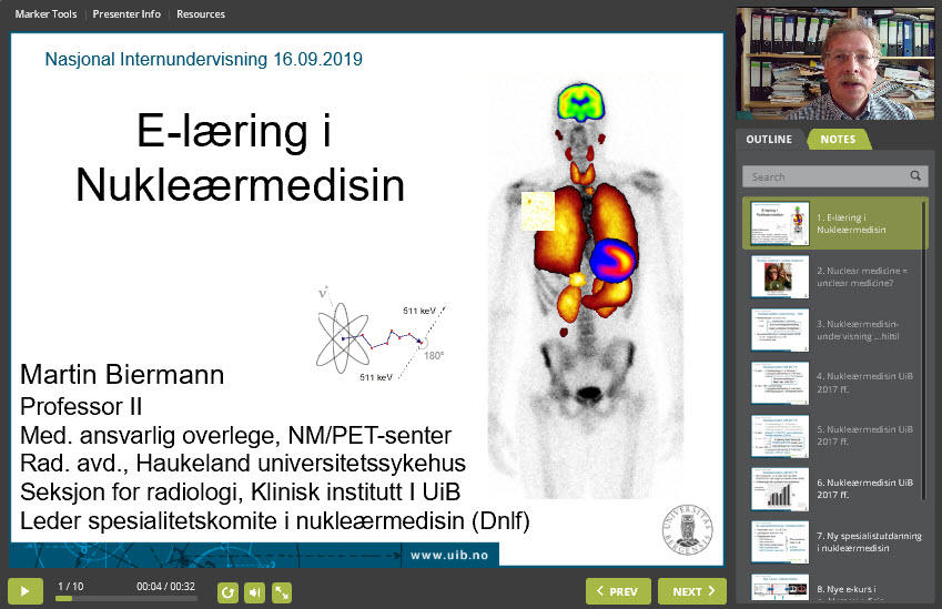 Nettforelesning: Elektronisk læring i nukleærmedisin