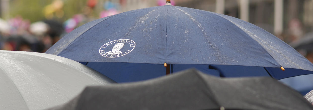 Umbrella with UiB logo