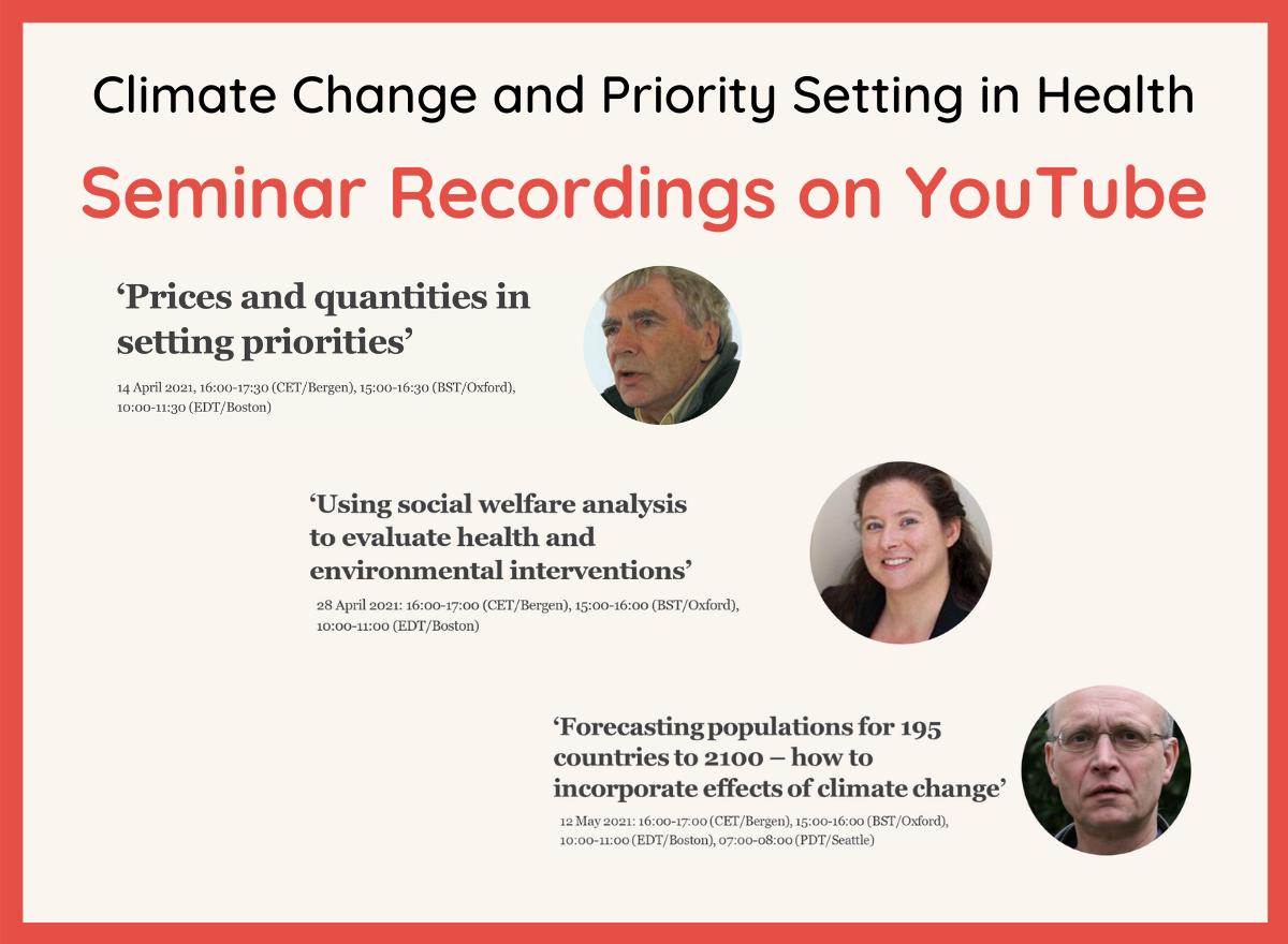 Seminar Recordings on YouTube