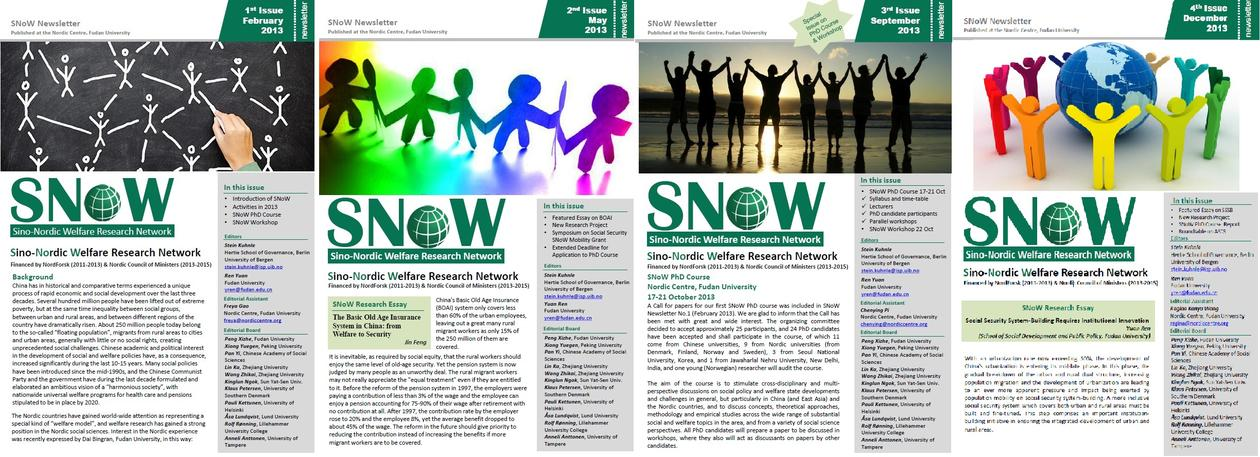 compilation of newsletter front pages