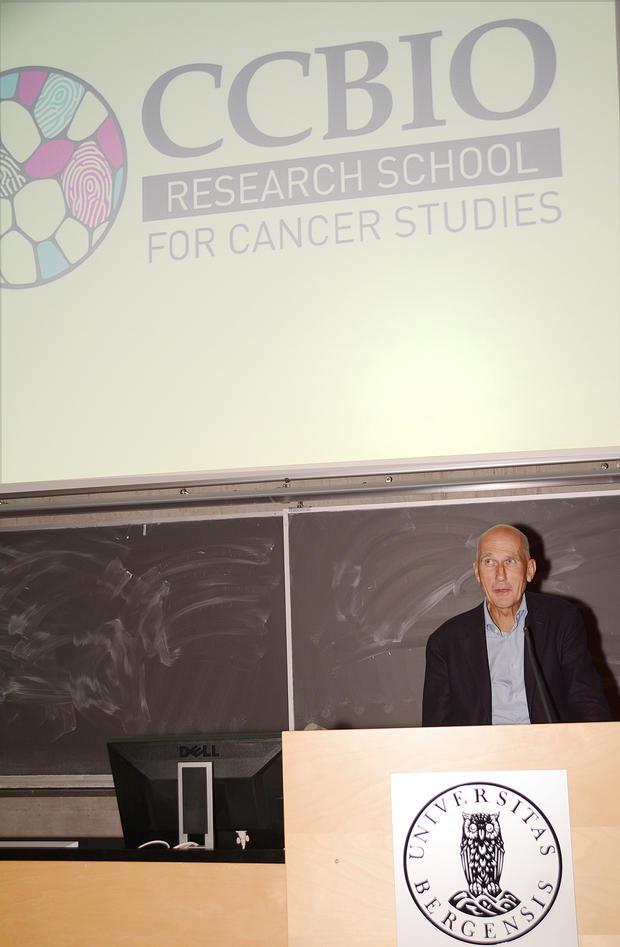 Nils Erik Gilhus and CCBIO research school logo.