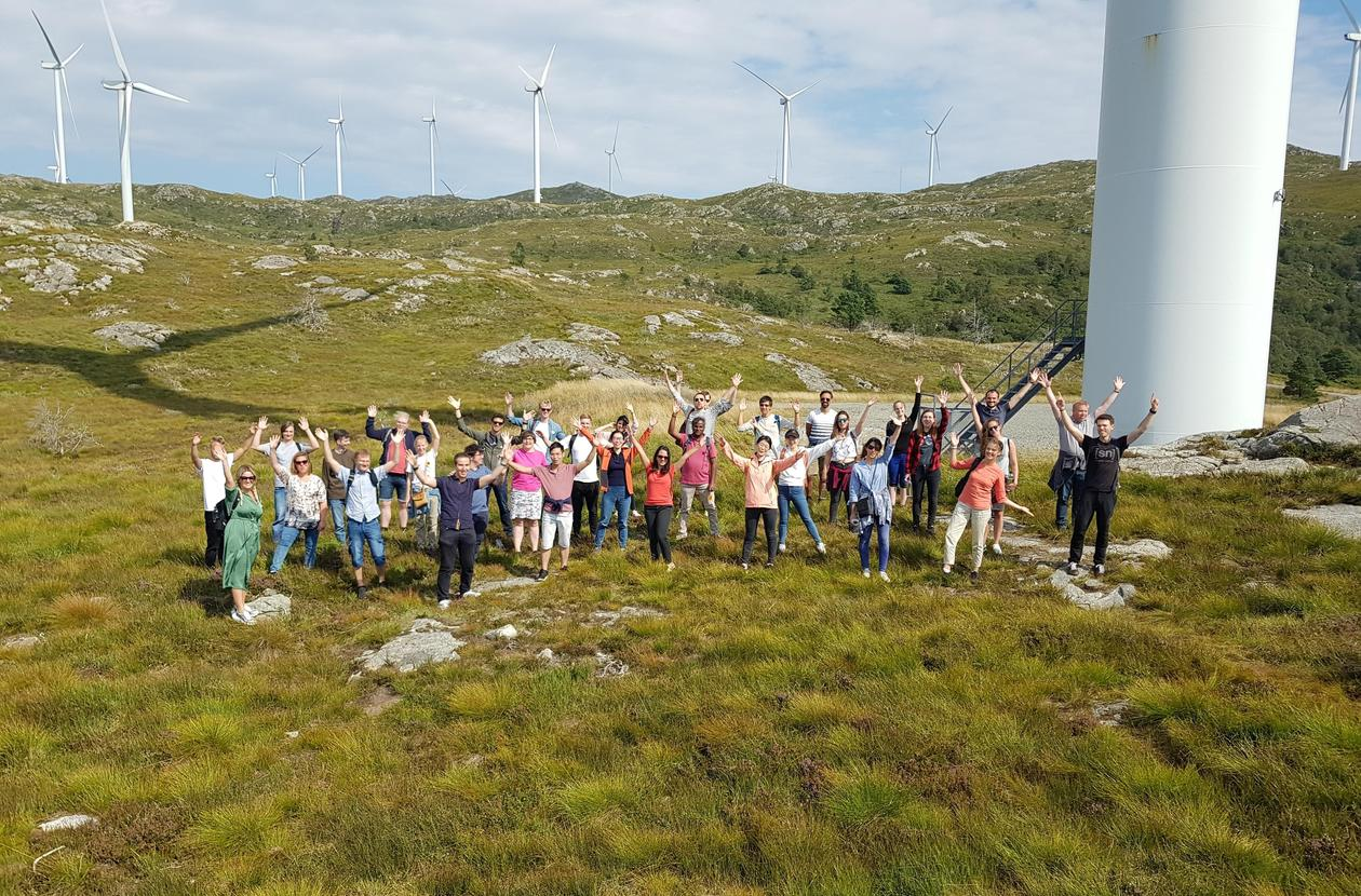 NorRen Summer School 2020 visiting Midtfjellet Wind Park