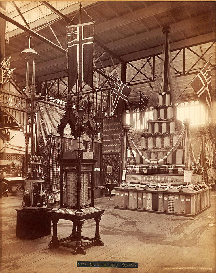 Norway section at world exhibition in Philadelpha 1879