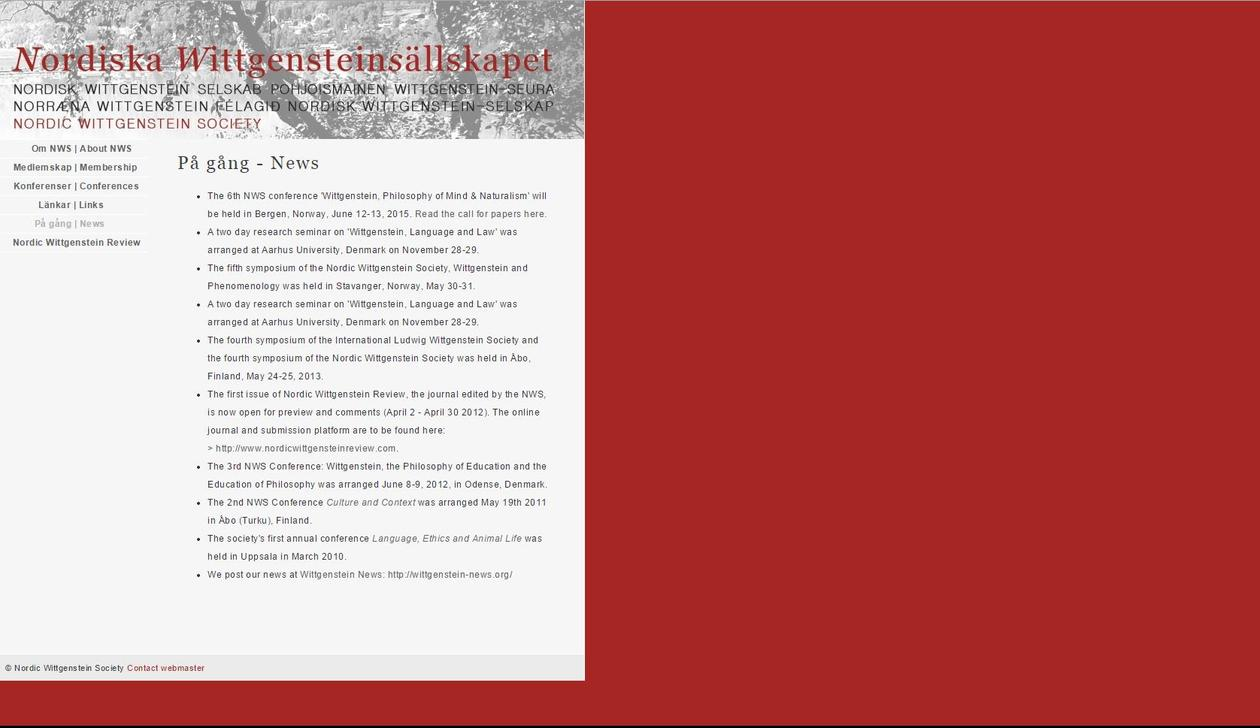 Nordic Wittgenstein Society