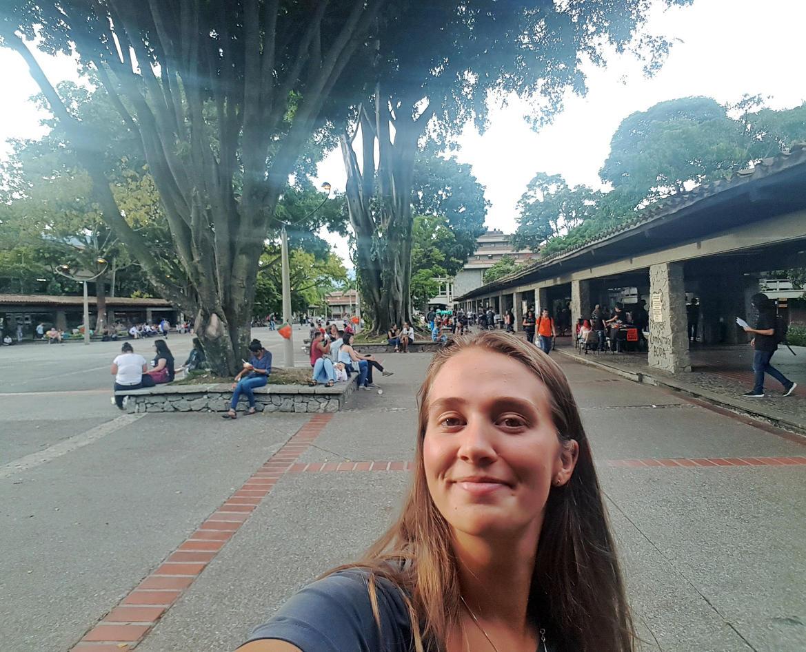 selfie på campus