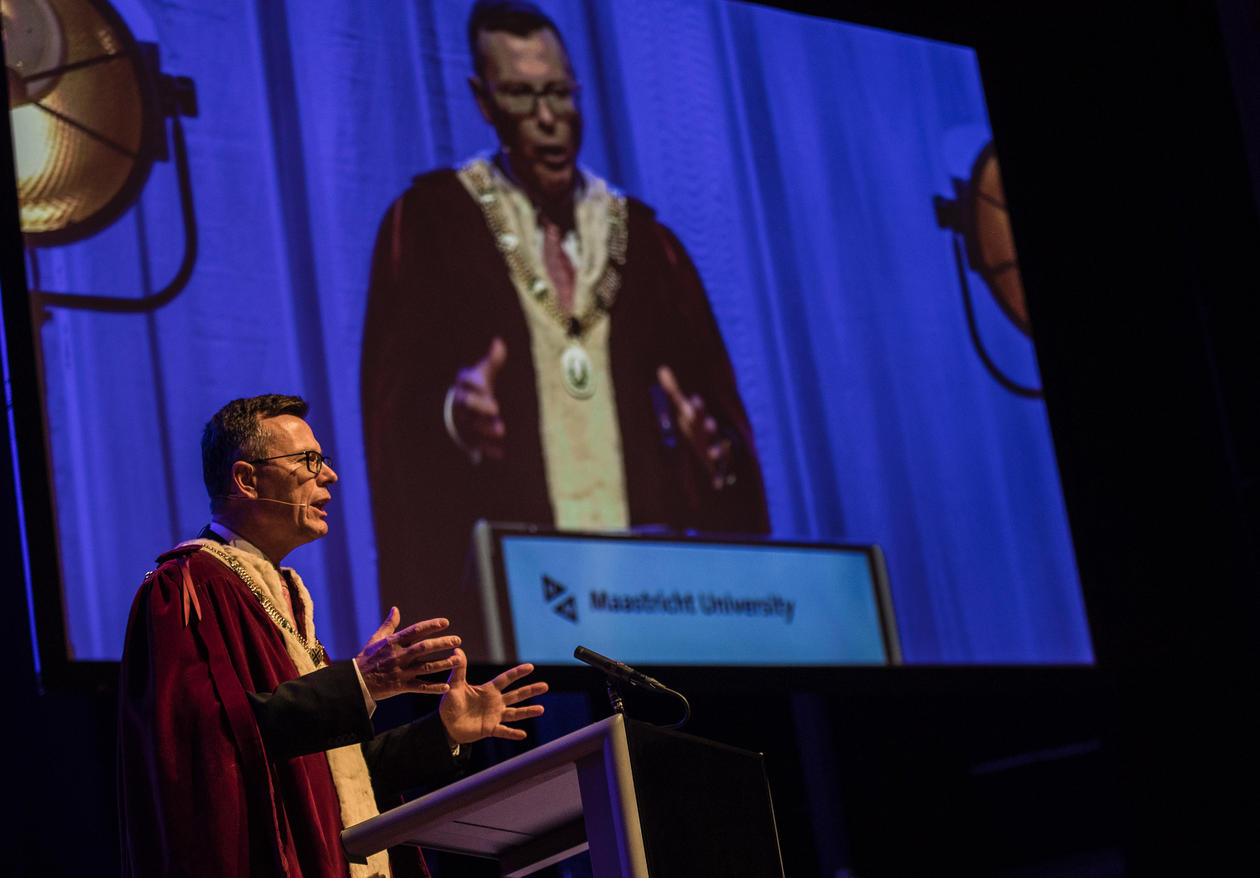 On 3 September 2018, the University of Bergen's Rector Dag Rune Olsen speaking at the opening ceremony of the Academic Year 2018/2019 at Maastricht University.