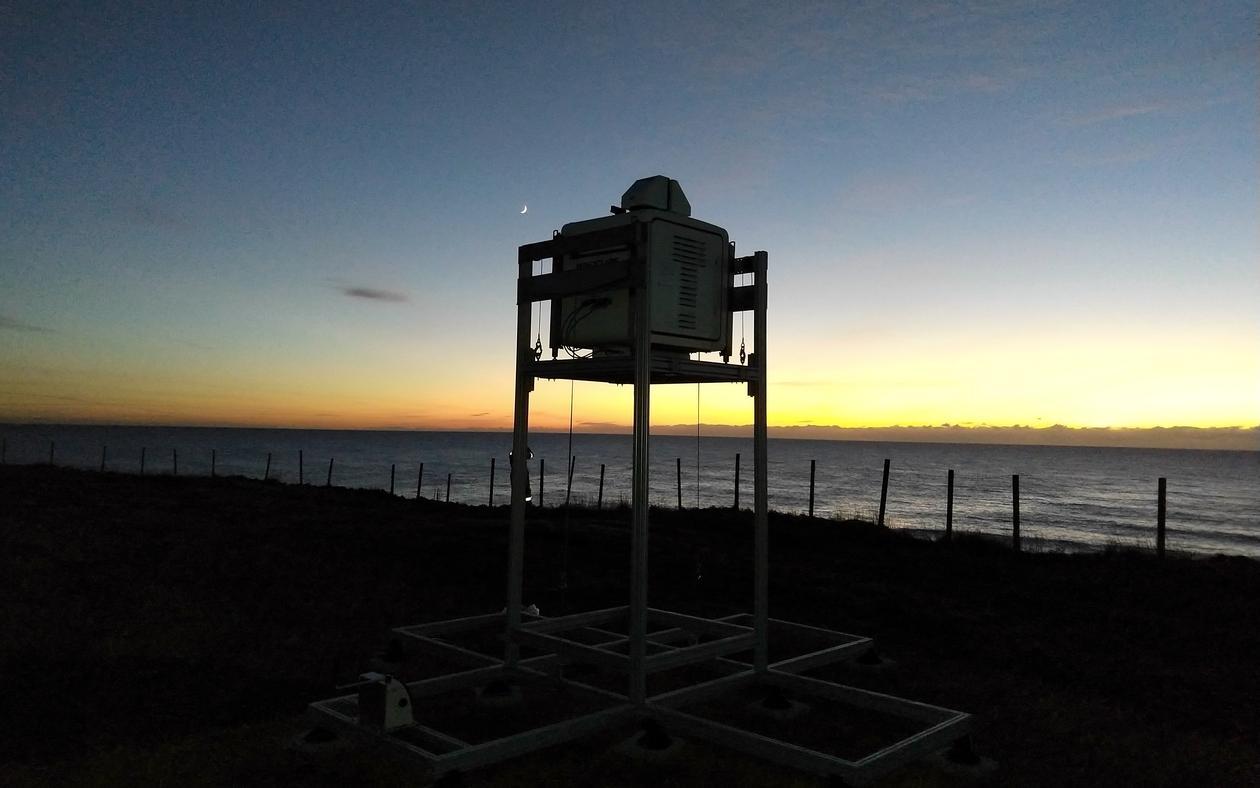 Obrestad Lighthouse - measuring equipment