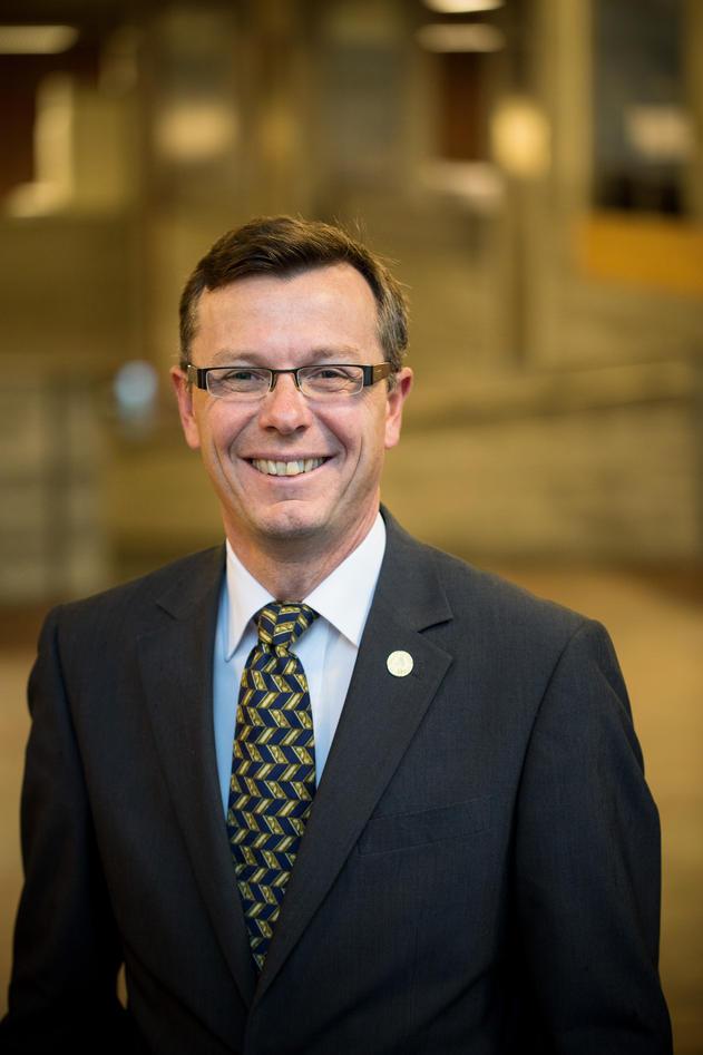 Portrett av rektor Dag Rune Olsen, Universitetet i Bergen.