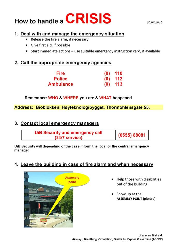 local emergency action plan