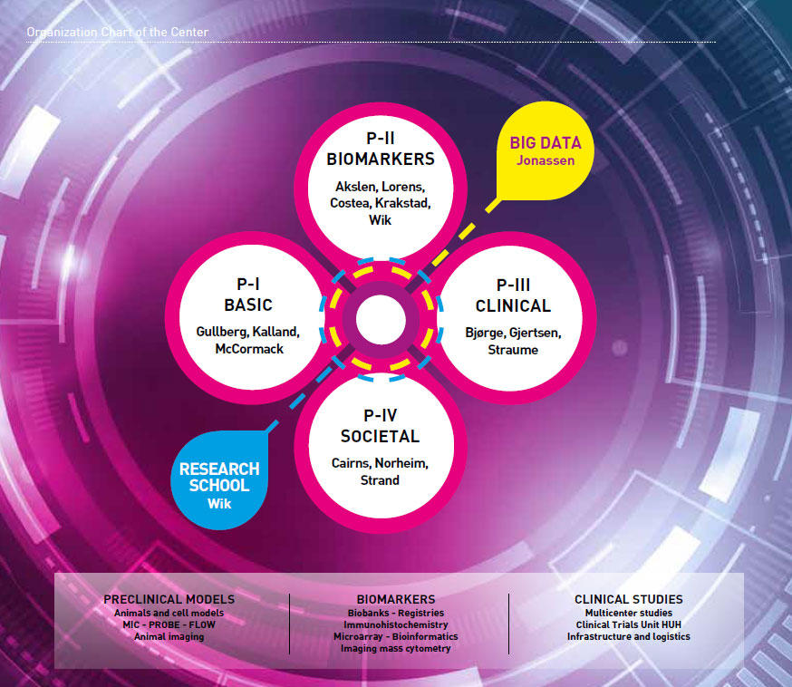 Organizational chart of CCBIO