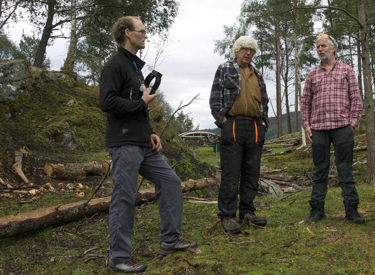 Oscar Hovde Berntsen (Nofence AS), Knut Krzywinski (BIO) og Endre Leivestad (Geodata Bergen Kommune)