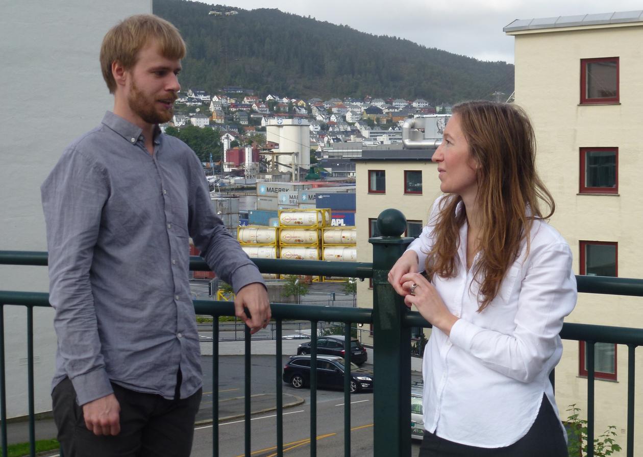 Jakob Grandin and Kristin Edith Abrahamsen Kjærås.