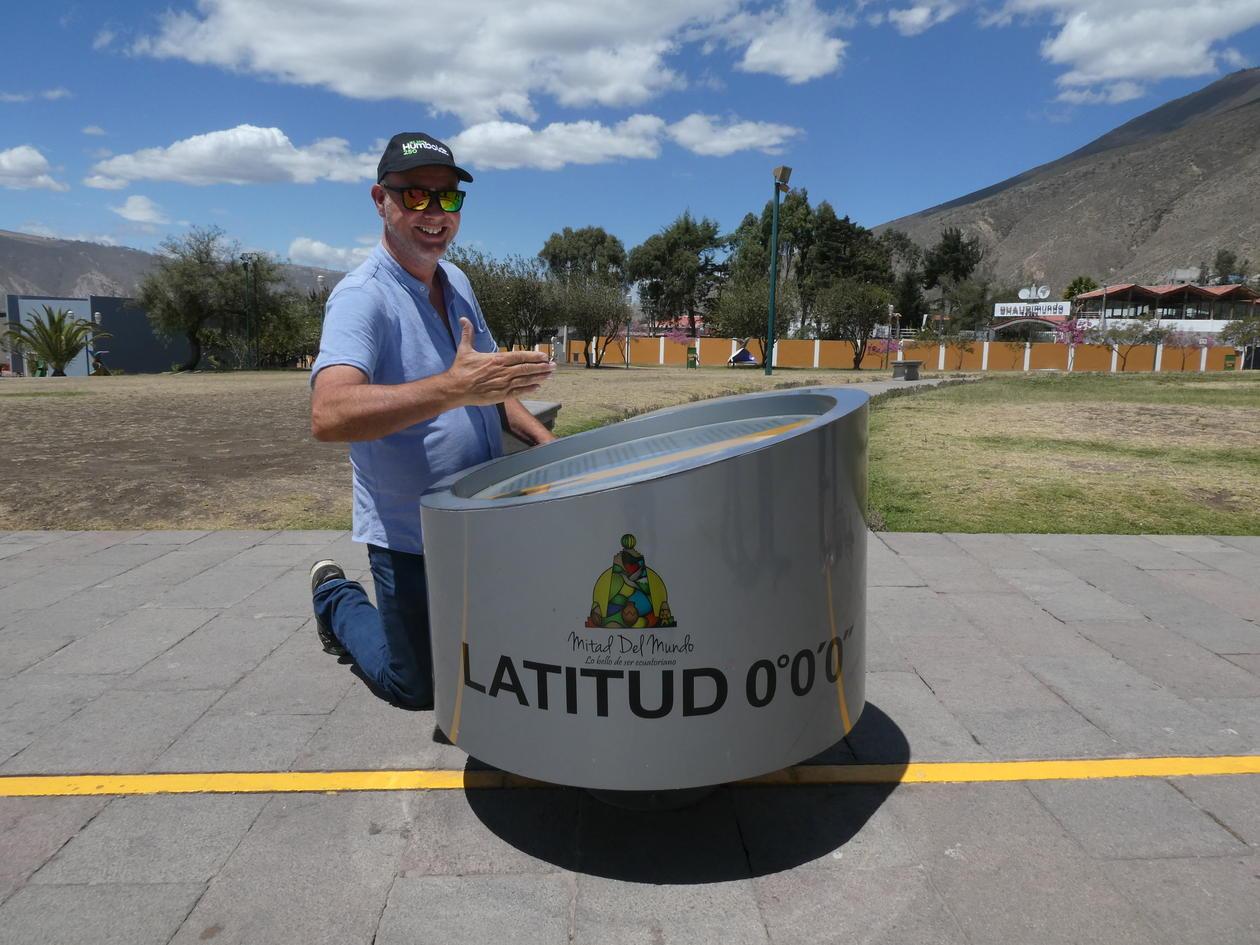 Ole Reidar Vetaas på ekvator