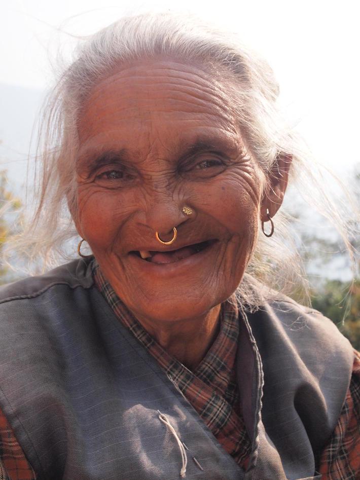 Eldre kvinne.
