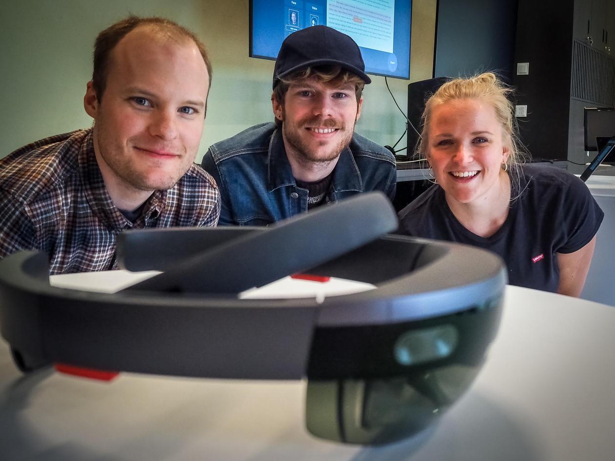 Media Futures Studentane som har laga prototypen