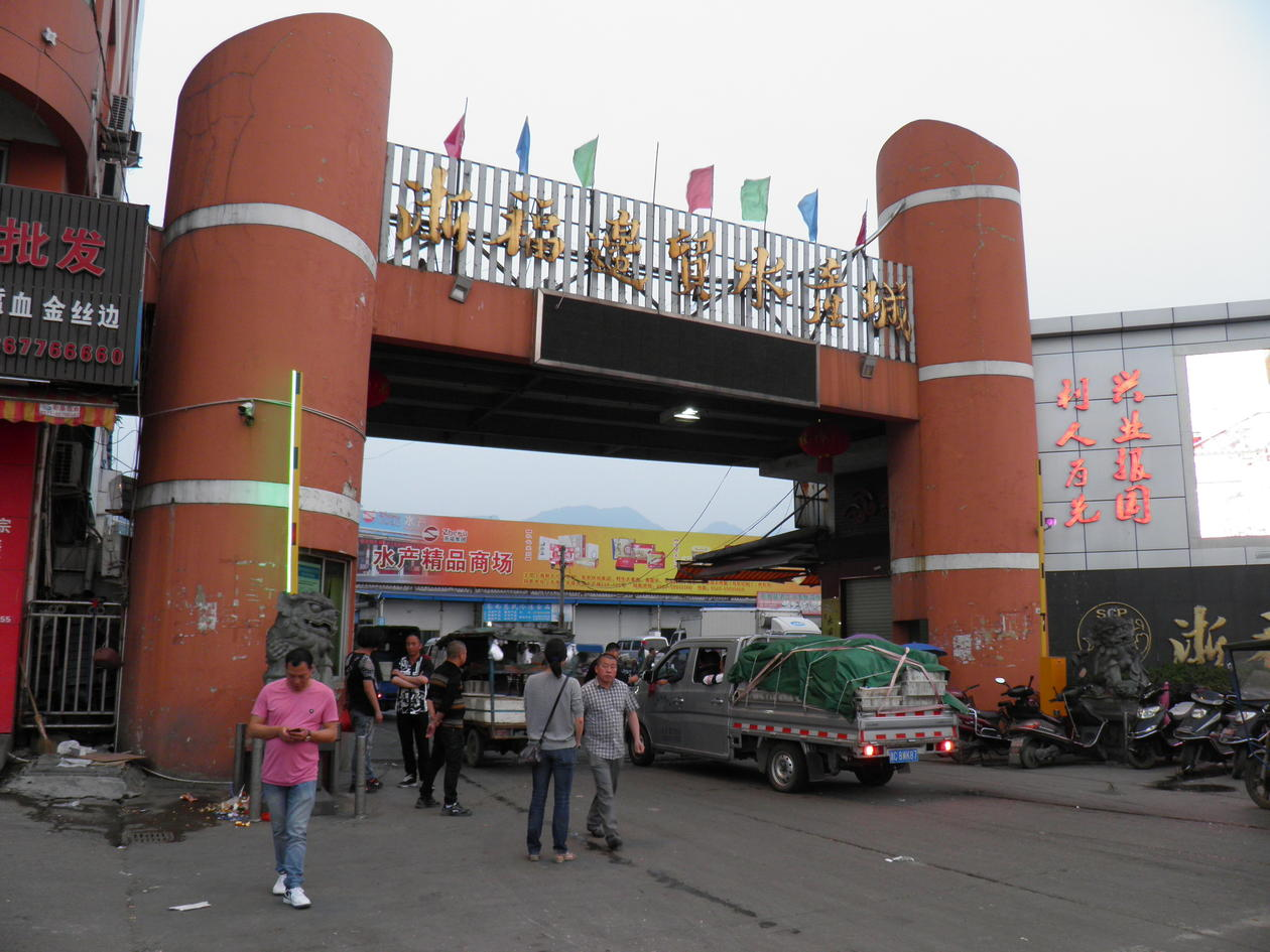 Gate of the Cangnan seafood wholesale market