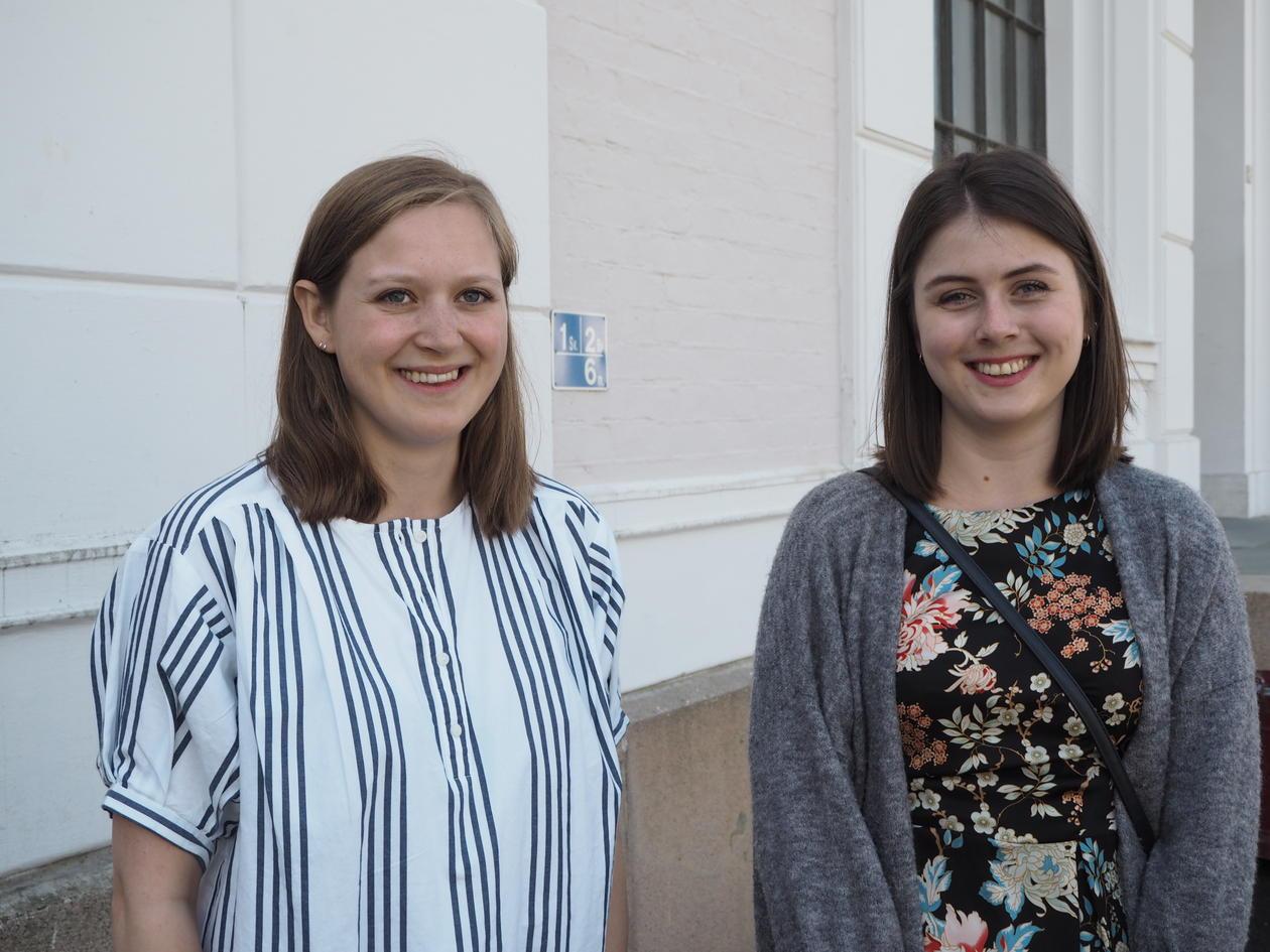 Leder Eivor Kristine Oellingrath og nestleder Hanna Amalie Holding Jones