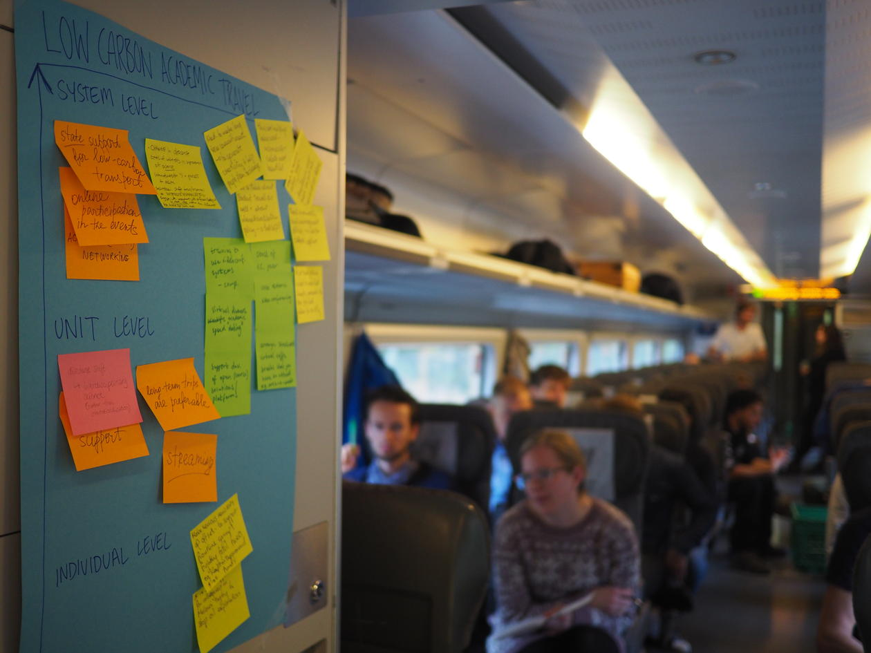 post-it session on train
