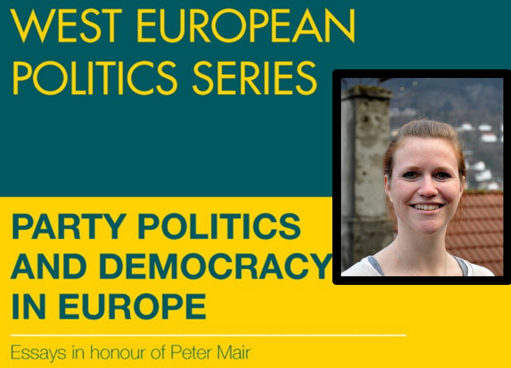 """Yvette Peters has contributed chapter 13 of the recently published book """"Party Politics and Democracy in Europe"""", honouring Peter Mair. Peters' essay is named """"Hollower Democracy? Studying the Consequences of a Changing Demos""""."""