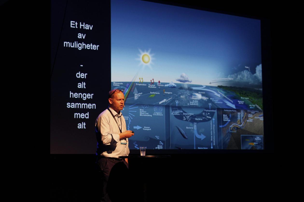 UiB-professor Rolf Birger Pedersen, havkonferansen