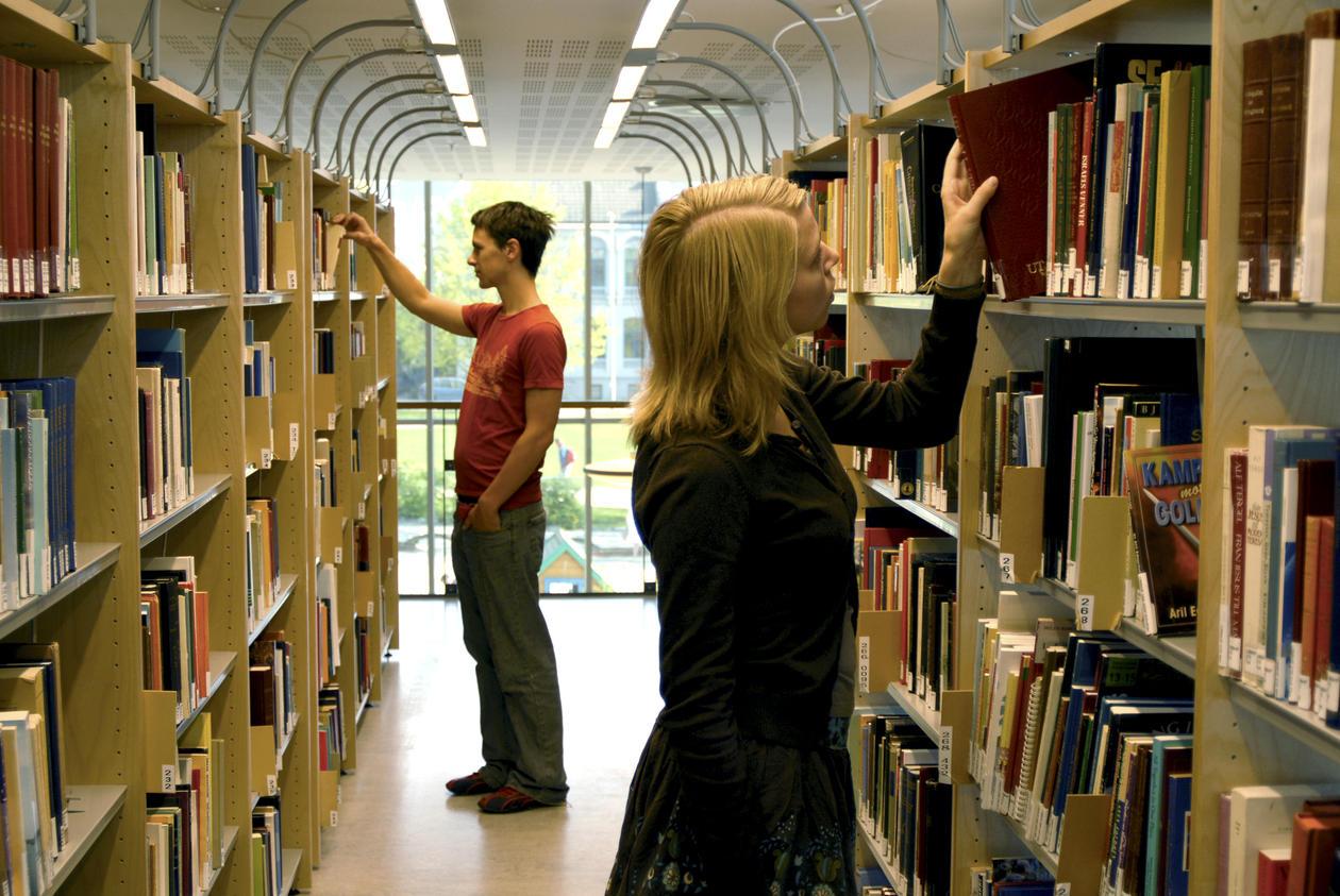 UiB, bibliotek for humaniora, bøker, bok, studenter