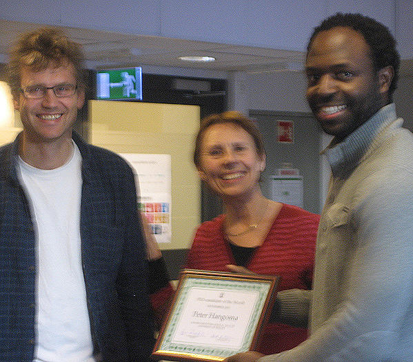 PhD candidate of the month CIH - Peter Hangoma