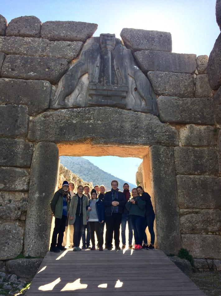 Students visiting Mycenae