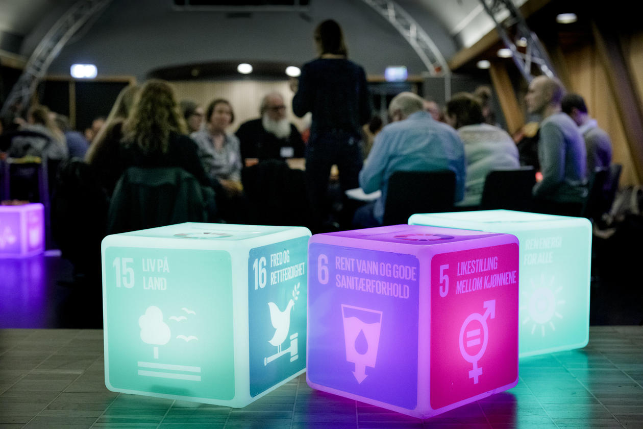 Photo from Nordhordland UNESCO Biosphere-workshop at the SDG conference in Bergen, 2020