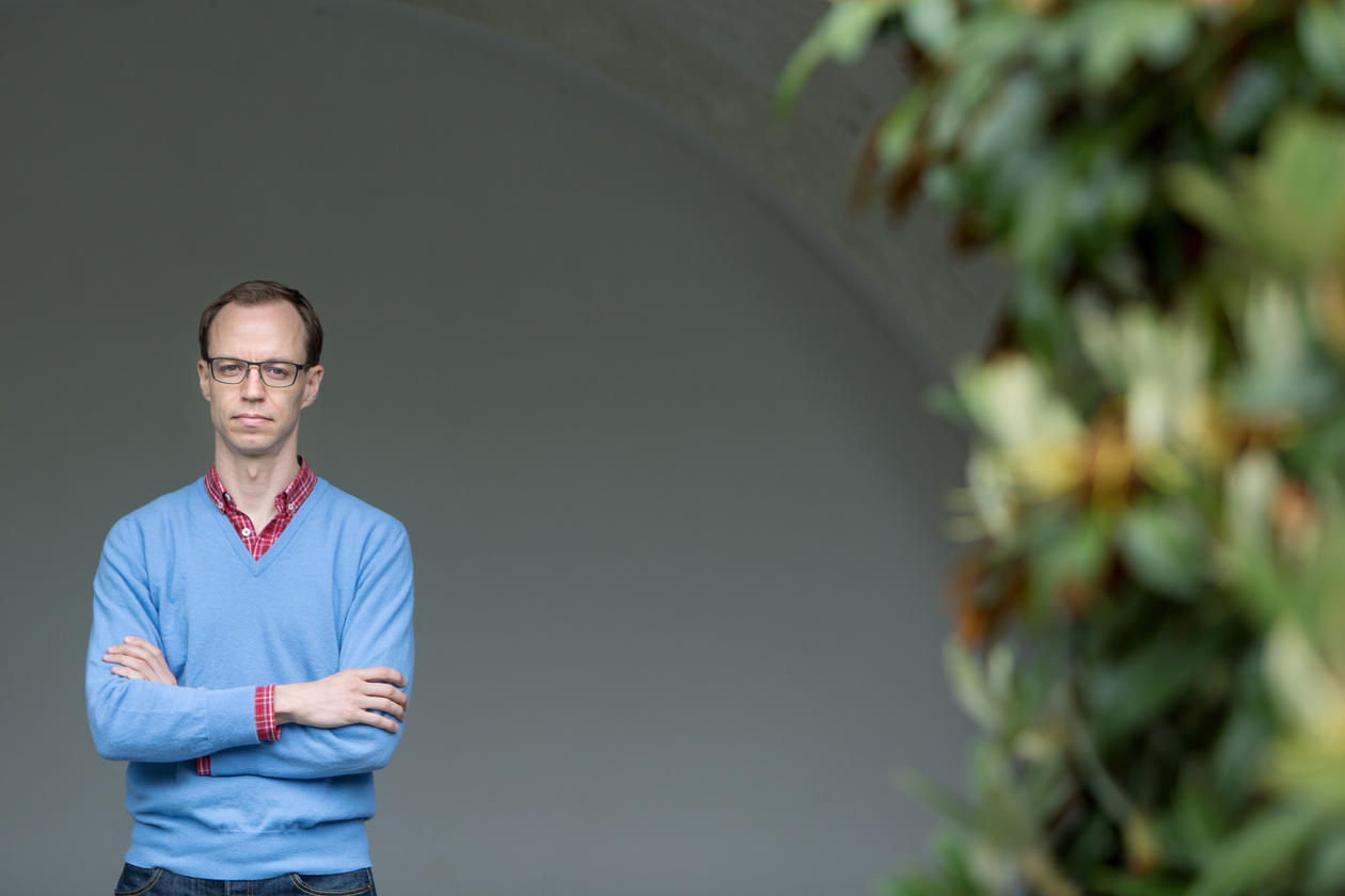 Portrait of Georg Picot from the Department of Comparative Politics at the University of Bergen (UiB), photographed in June 2017.