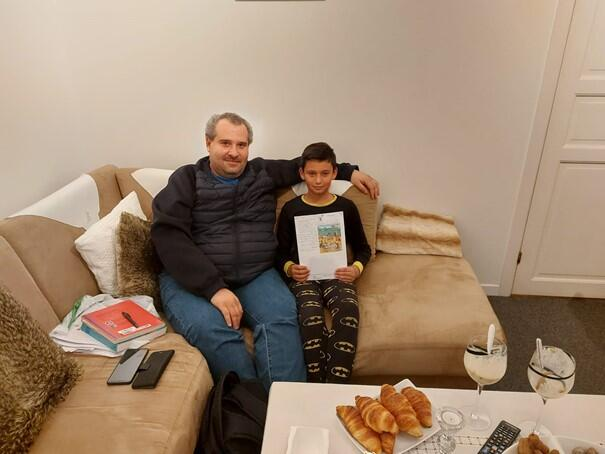 with Ghaleb Maree 10 years old from Alepo, He lives in Mandal